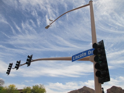 Traffic Signal Lights on Lincoln Drive