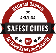 2017 National Council for Home Safety and Security award for Safest Cities in Arizona